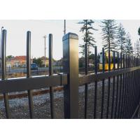 Cheap Security Fence,Tubular Fencing steel Black Fence Panels 2100mm high for sale