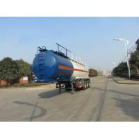 Cheap 32cbm Hydrochloric Acid Liquid Tank Trailers 37 Tons Inner Lining Plastic for sale
