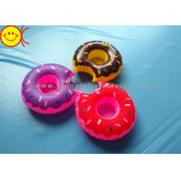 Quality Mini Delicious Food Inflatable Toys Donut Cup Holder for Party Fun / Bath Time wholesale