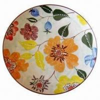 Buy cheap 8-inch Ceramic Plate in Round Shape, Stamped Draft, Various Design is Available from wholesalers