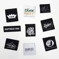 Cheap 100% Polyester Fabric Woven Clothing Labels garment tags and labels for sale