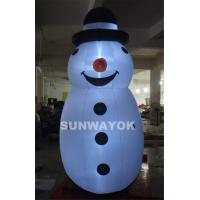 Cheap Merry Christmas LED Snownan Inflatable Advertising Model For Outdoor  Decoration for sale