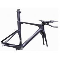 Cheap Di2 Compatible Carbon Triathlon Bike Frame 700C BSA / BB30 For Racing TT Bicycle for sale