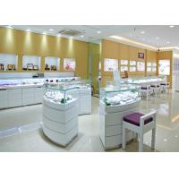 Cheap Retail Shop Lighted Commercial Jewelry Wall Display Case High Glossy White Color for sale