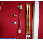 Cheap high quality Gold-plated coating double-hole carbon fiber quartz heating element,quartz carbon fiber heating tube for sale