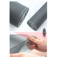 Easy installation fiberglass window screen with magnetic strips