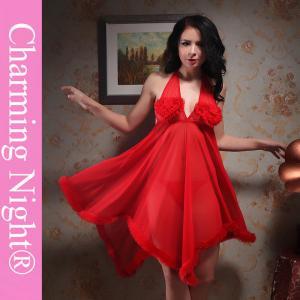 China Long Skirt Transparent Fur Edge Honeymoon Nightwear For Women Ladies on sale