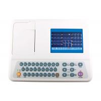 China Portable 12 Lead ECG Machine 3 Channel Color Display 5 Inch ECG Monitor on sale