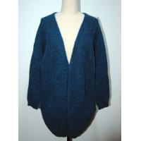 Cheap Comfortable Womens Cardigan Sweaters Navy Blue With Two Lower Pockets for sale