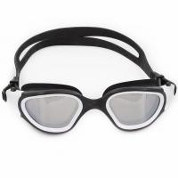 Cheap Silver Mirrored Swim Mask Goggles PanoramicLens Swimmer Goggles for sale