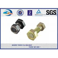 Quality Hexagon Railway Sleeper Bolts T Head with Nut / Washer M16 HDG Galvanizing wholesale