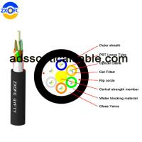 Cheap Aerial Duct Non Metallic Fiber Optic Cable GYFTY 48 Core Crush Resistance for sale