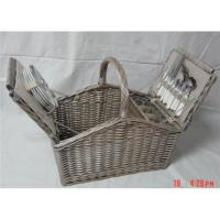 Cheap Willow Picnic Basket for 4 person for sale