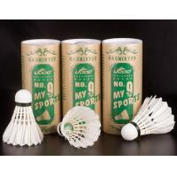 China Duck feather badminton, 3 pcs for each box on sale
