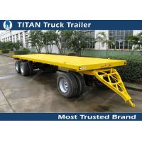 Cheap Single / double axles pintle hitch trailers with front board , agricultural trailers for sale