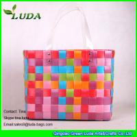 Cheap LUDA latest designer beach bags  hand woven pp strap straw shopping bag plastic for sale