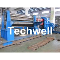 Cheap Galvanised Two Rollers Corrugated Roll Forming Machine 4 - 8mm with Panasonic PLC Control System for sale