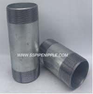 China Standard Size  Galvanized Steel Pipe Nipple  Male Thread Equal Shape on sale