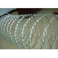 Cheap Galvanized BTO-12,18,22,28,30 CBT-60,65 Razor Barbed Wire Concertina Wire Coil For Security for sale