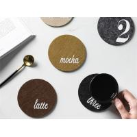Cheap 43 Colors Stylish Design Cup Mat Coaster With Screen Printing Logo for sale