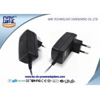 Cheap EU PIN 12V Power Adapter 1.25A Low Ripple 50Hz With Black / White Color for sale