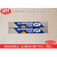 Cheap Household Aluminium Foil Roll , Tin Foil Roll 10 Micron Thickness 20m Length for sale