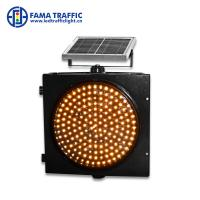 Cheap Warning Strobe Solar 300mm Traffic Light Environmentally - Friendly With PC Material Housing for sale