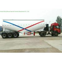 Cheap 55-70cbm Tri Axle Bulk Cement Tank Trailer With Diesel Engine For Dry Powder Meterial for sale