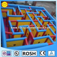 Cheap PVC Inflatable Sports Games Protable Inflatable Maze Quadruple Stitching for sale