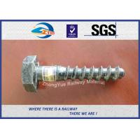 Cheap Railway Sleeper Screw Spike HEX Head Hot Deep Galvanized for sale