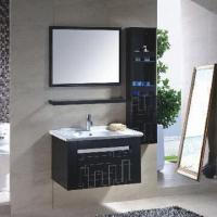 China Stainless Steel Bathroom Vanity/Furniture, Made of Stainless Steel 304, Thickness of 0.7/0.5mm on sale