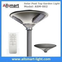 Cheap 20W 2000lm Solar Post Top Garden Lights All In One Solar Pathway Garden Lamp with Post Pole for Driveway for sale