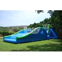 Cheap 0.55mm PVC Tarpaulin Giant Inflatable Slide For Event / Huge 42ft Tall Drop Kick Water Slide for sale
