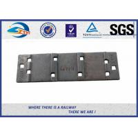 Cheap QT500-7 Steel Rail Base Plate , Metal Tie Plate For UIC DIN Standard Railway for sale
