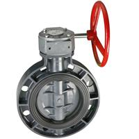 Cheap Worm actuated wafer type butterfly valve for sale