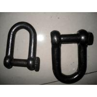 Cheap Self Colored Steel Shackles , Square Head Screw Pin Shackle European Standard for sale