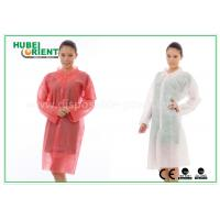 China PP Disposable Lab Coats , custom disposable lab gowns Protective with Snap on sale