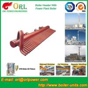 Buy cheap ASME Standard Low Loss Header Boiler Parts / Boiler Steam Header from wholesalers