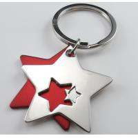 Cheap personalized deluxe star metal keychains wholesale for sale