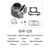 Cheap Durable Aftermarket Motorcycle Cylinder Kit GY6 125 For Honda Halma 125 Scooter for sale