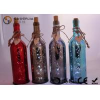 Cheap Electroplate Finish Wine Bottle Led Lights With Paint Color / Words for sale