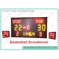Electronic scoreboard and shot timer displays Home and Guest scores to 199 and to team name