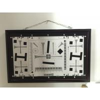 Cheap iso 12233 2000 lines cctv camera test chart resolution test chart on paper and glass (chrome print) 200mm*356mm 16:9 for sale