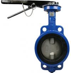 Cheap DN50/PN10/aluminium handle/EPDM seat/304 disc wafer type JIS aluminium butterfly valve for sale