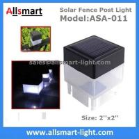 Buy cheap 2''x 2'' Inch Square Solar Post Cap Light For Wrought Iron Fencing Front Yard and Backyards Gate Landscaping Residential from wholesalers