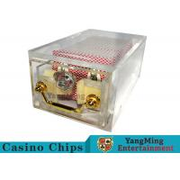 Cheap Acrylic Casino Card Shoe 8 DeckLarge Capacity With Bright Metal Lock wholesale