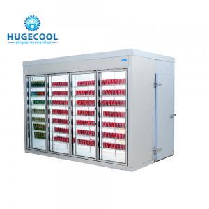 Cheap 4 Door Convenience Store Fridge , Beverage Cooler Refrigerator For Supermarket for sale