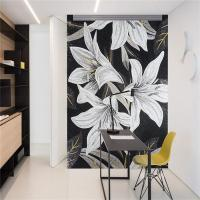 China Wall Hanging Glass Mosaic Murals , Bathroom Shower Tile Murals Square Shape on sale