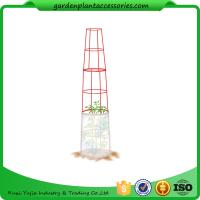 """Cheap Large Tall Tomato Plant Stakes , Red Heavy Duty Tomato Cages size 14"""" in diameter x 66"""" H overall Fabric is imported for sale"""