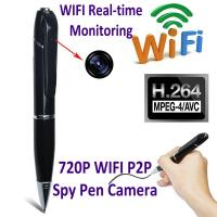 Cheap 720P HD WIFI P2P Pen Spy Hidden Camera Covert Video Streaming Recorder Home Security Nanny Camera Remote Baby Monitor for sale